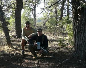 The author with Robert Ward on a hunt in the southwestern United States